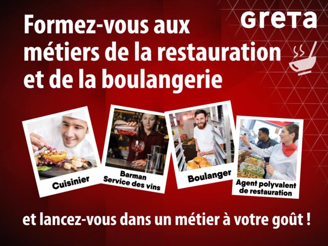 cuisine, barman, serveur, boulanger, restauration
