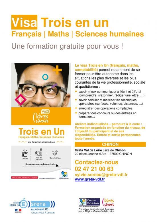 formation gratuite à Chinon et à Ste Maure